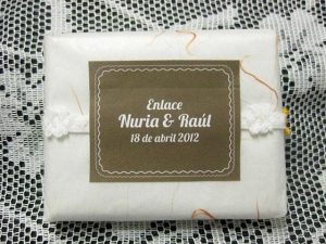 Jabón detalle de boda original Nuria y Raúl