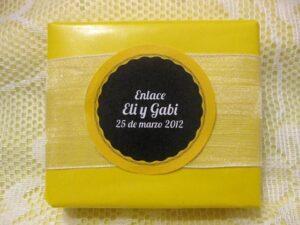 Jabón detalle de boda original Eli y Gabi