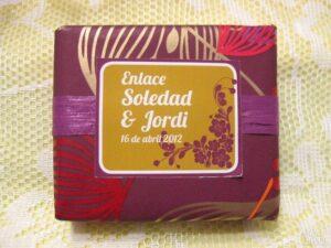 Jabón detalle de boda original Soledad y Jordi