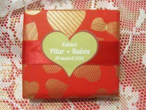 Jabón detalle de boda original Pilar y Rubén