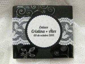 Jabón detalle de boda original Cristina y Álex