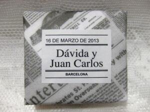 Jabón detalle de boda original Dávida y Juan Carlos