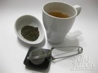 Prepara la infusión. Yo he utilizado té verde.