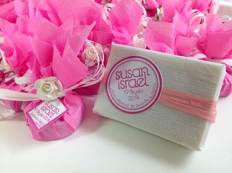 Jabones artesanales y bálsamo labial boda Sussan e Israel