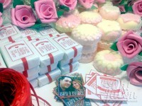 jabón artesanal y bomba de baño detalles de boda
