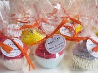 bombas de baño cupcake espumosas y efervescentes