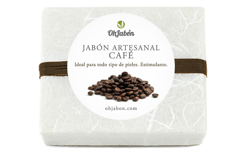 Jabón artesanal de café.