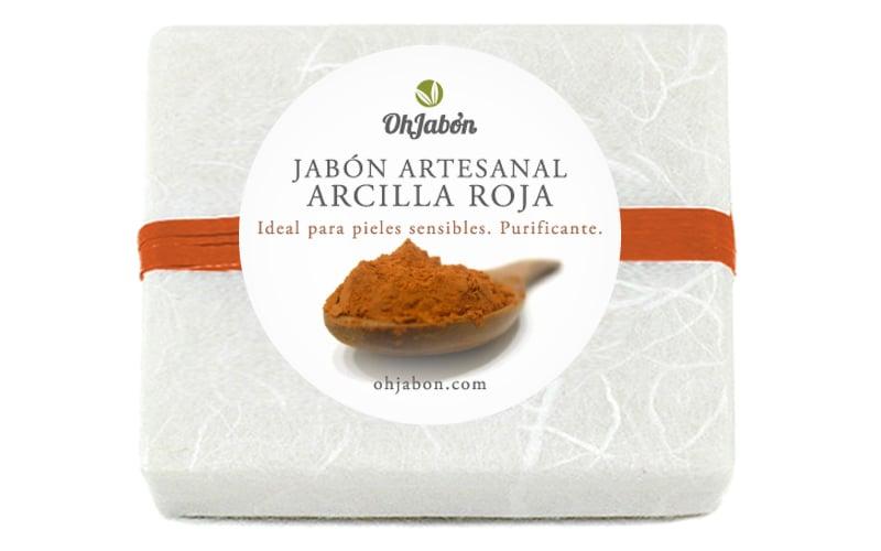 Jabón natural de Arcilla Roja