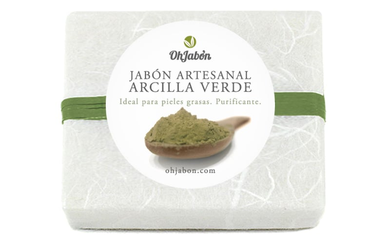 Jabón natural de arcilla verde