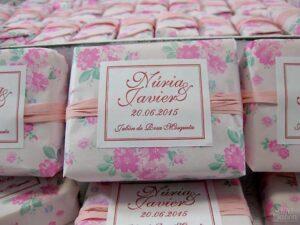 Jabón de rosa mosqueta detalle de boda
