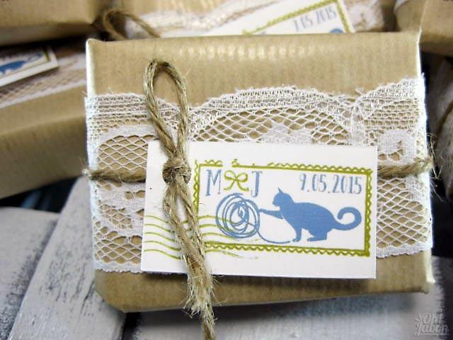 Jabón artesanal detalle de boda Mila