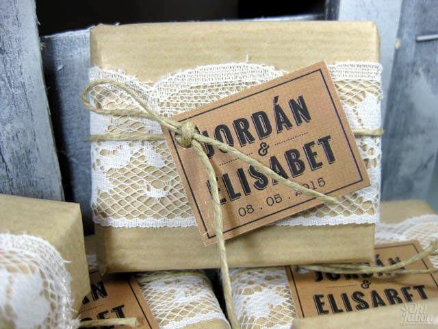 Jabón artesanal detalle de boda de Elisabet