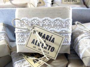 Jabón artesanal estilo kraft detalle de boda