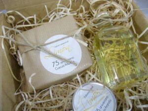 cesta de cosmética natural detalle de empresa