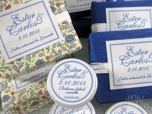 Jabones artesanales y bálsamo labial boda de Ester