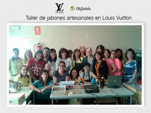 Taller de jabones artesanales OhJabon para Louis Vuitton